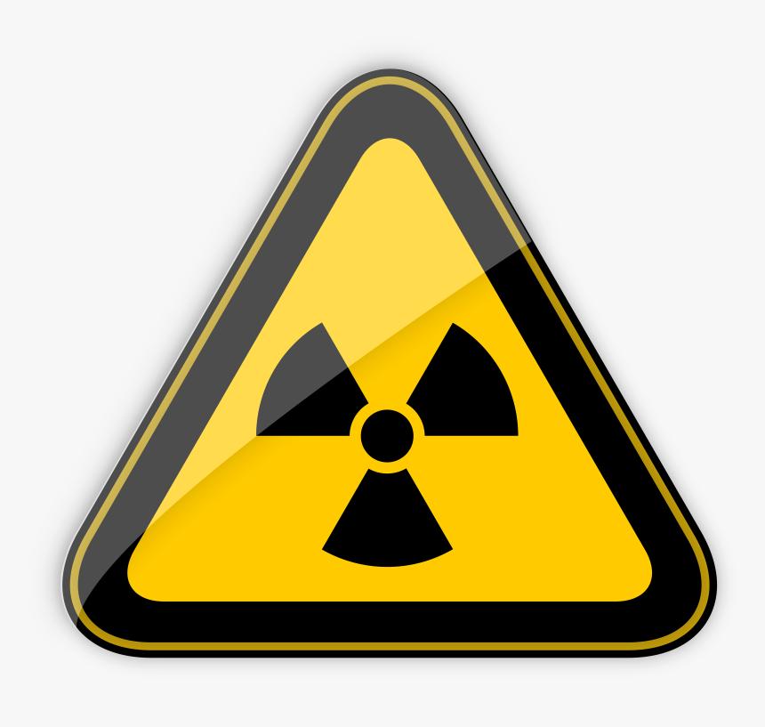 Radiation Hazard Warning Sign Png Clipart - Radiation Symbol, Transparent Png, Free Download
