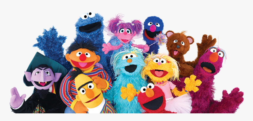 Group Shot Of Sesame Characters - Elmo And The Muppets, HD Png Download, Free Download