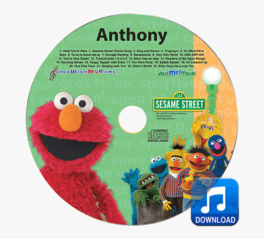 Elmo And Friends Mp3 - Elmo And Friends, HD Png Download, Free Download