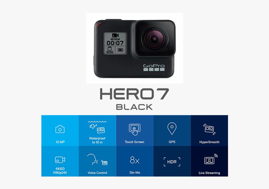 Gopro Hero7 Black Features Gopro Hero 7 Silver Hd Png Download
