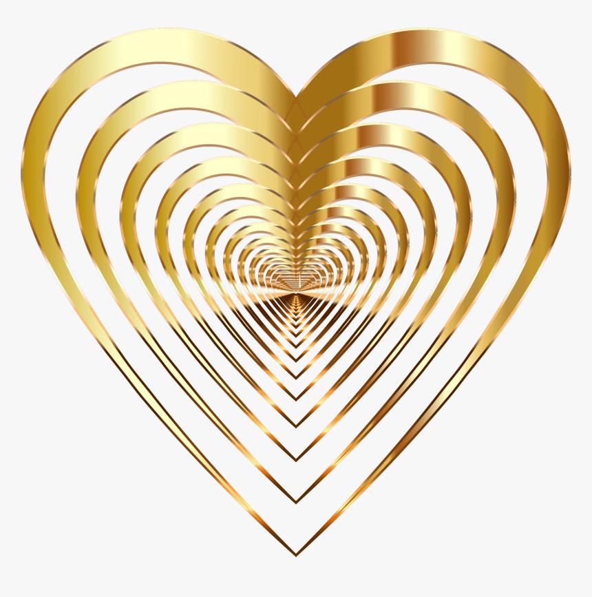 Gold Heart Clipart Black - Přání K Svátku Irena, HD Png Download, Free Download