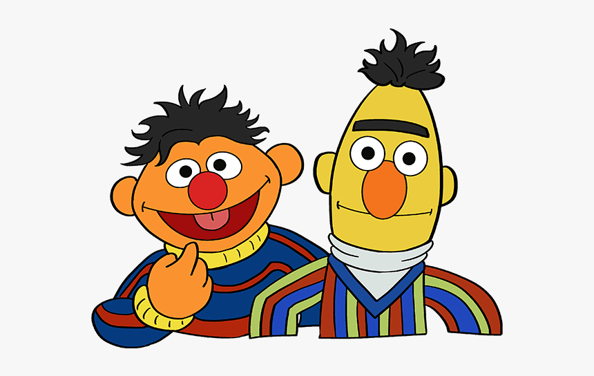 How To Draw Bert And Ernie From Sesame Street - Sesame Street Characters Drawing, HD Png Download, Free Download