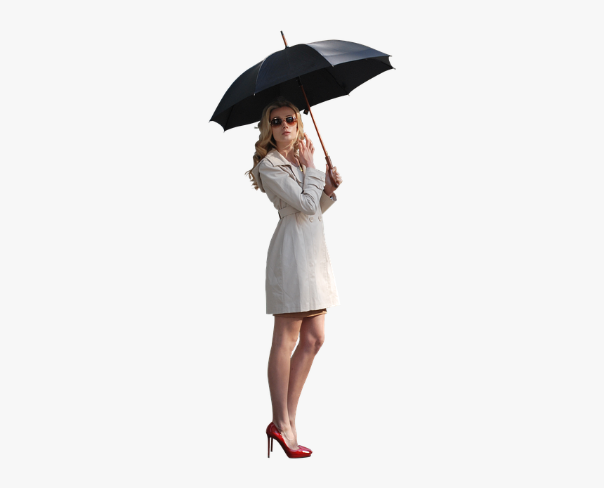 Woman, Umbrella, Rain, People, Girl, Female, Fashion - Girl With Umbrella Png, Transparent Png, Free Download