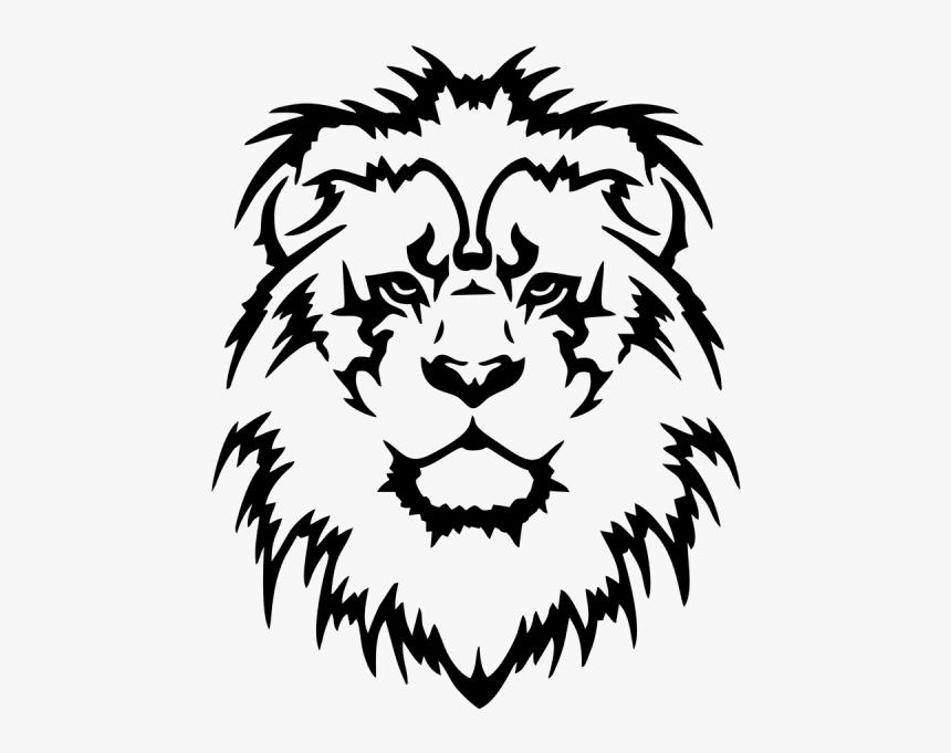 Head Wall Sticker Decal Lion Bumper Clipart - Tribal Lions Head Tattoo, HD Png Download, Free Download