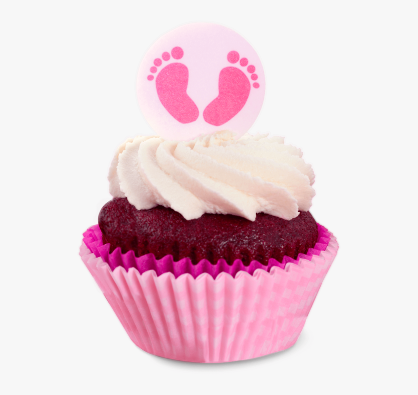 Baby Religious Celebration Pink Cupcake - Pink Baby Shower Its A Girl Decoration, HD Png Download, Free Download