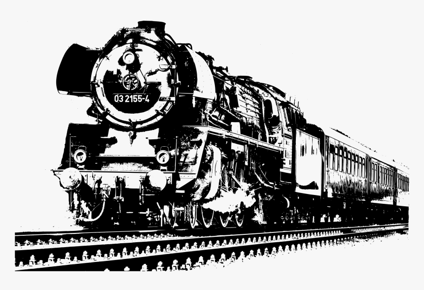 Transparent Train Clipart Black And White - Train Black And White Transparent, HD Png Download, Free Download