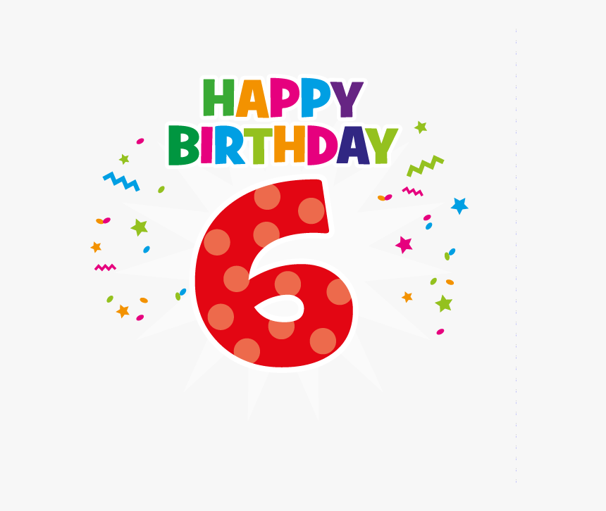 Pbd519 - Happy 6th Birthday Clipart, HD Png Download, Free Download