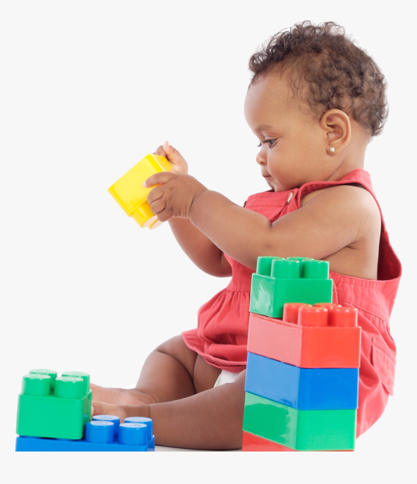 For Your Child - Black Baby Playing With Blocks, HD Png Download, Free Download