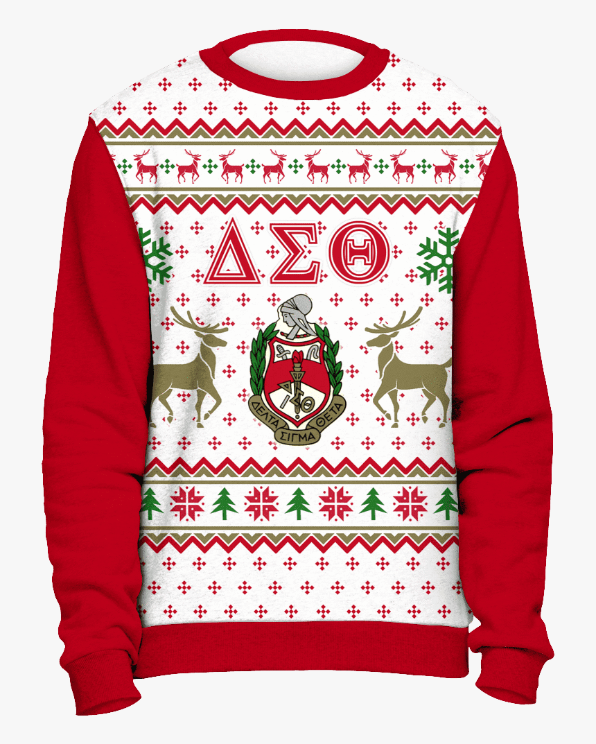 All Over Pug Face Christmas Sweater - Alpha Kappa Alpha Ugly Christmas Sweater, HD Png Download, Free Download