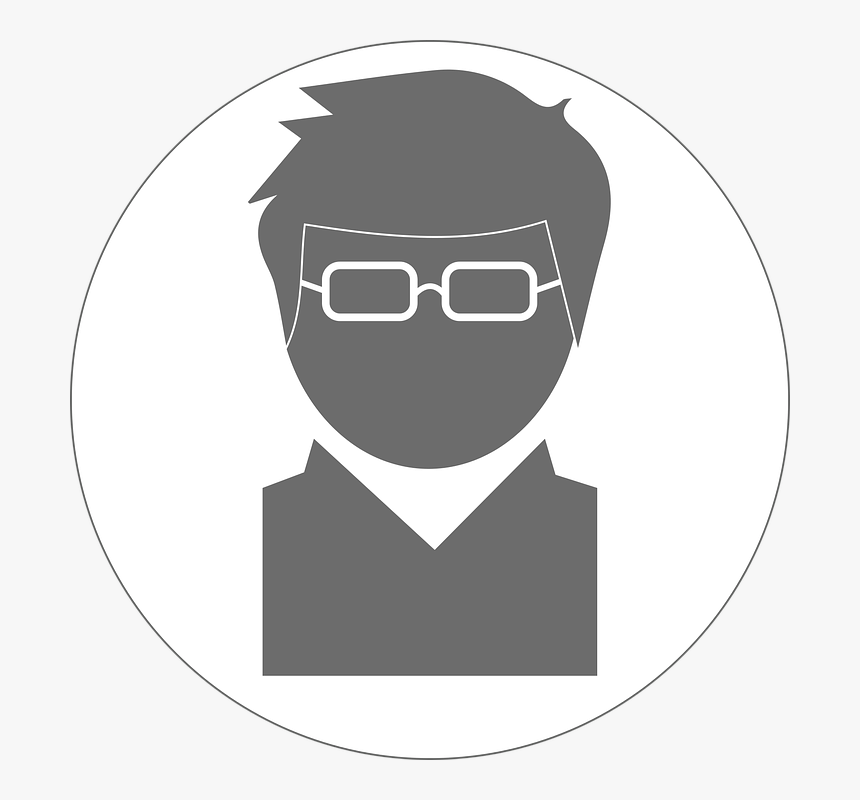 Avatar, Man, Male, Glasses, Spectacles, Intelligent - Engineer Png Black And White, Transparent Png, Free Download