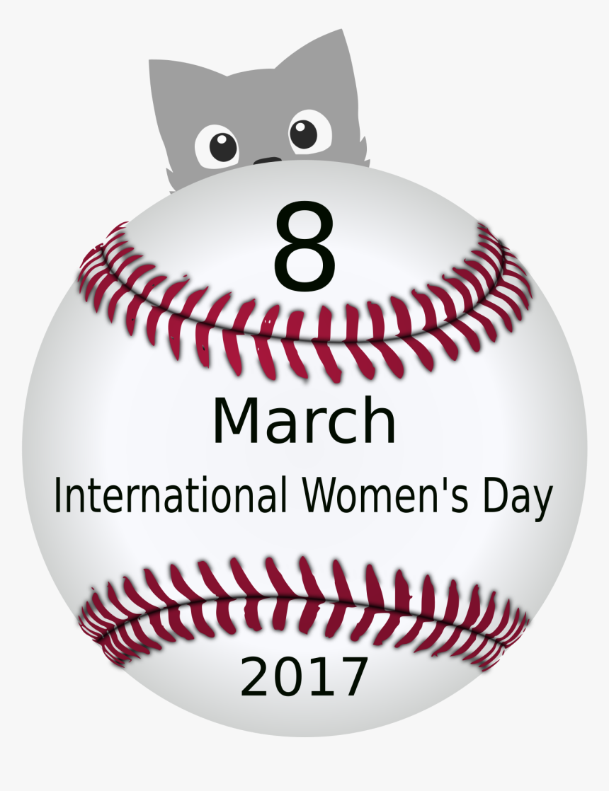 """Women""""s Day 03 Clip Arts - Transparent Background Baseball Png, Png Download, Free Download"""