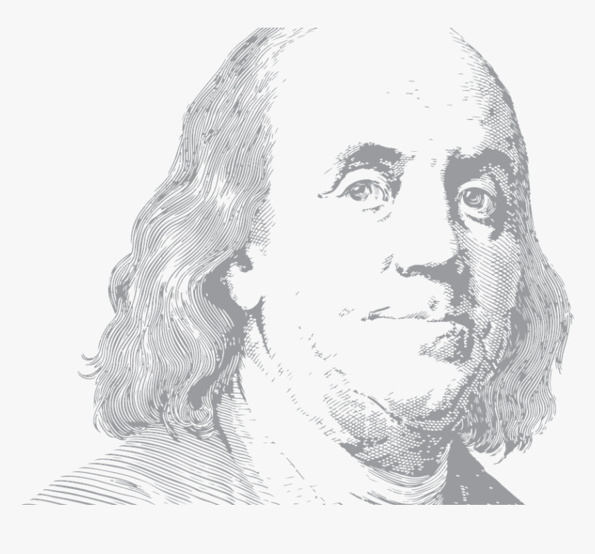 Ben Franklin, Benjamin, Portrait, Usa, Person, Face - 100 Us Dollar, HD Png Download, Free Download