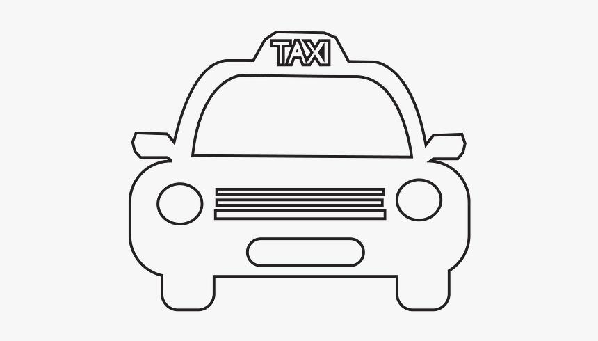 Cartoon Taxi Drawing Png, Transparent Png, Free Download