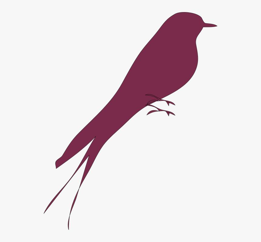 Love Bird, Bird, Purple, Red, Lone, Alone, Silhouette - Love Birds Silhouette Art, HD Png Download, Free Download
