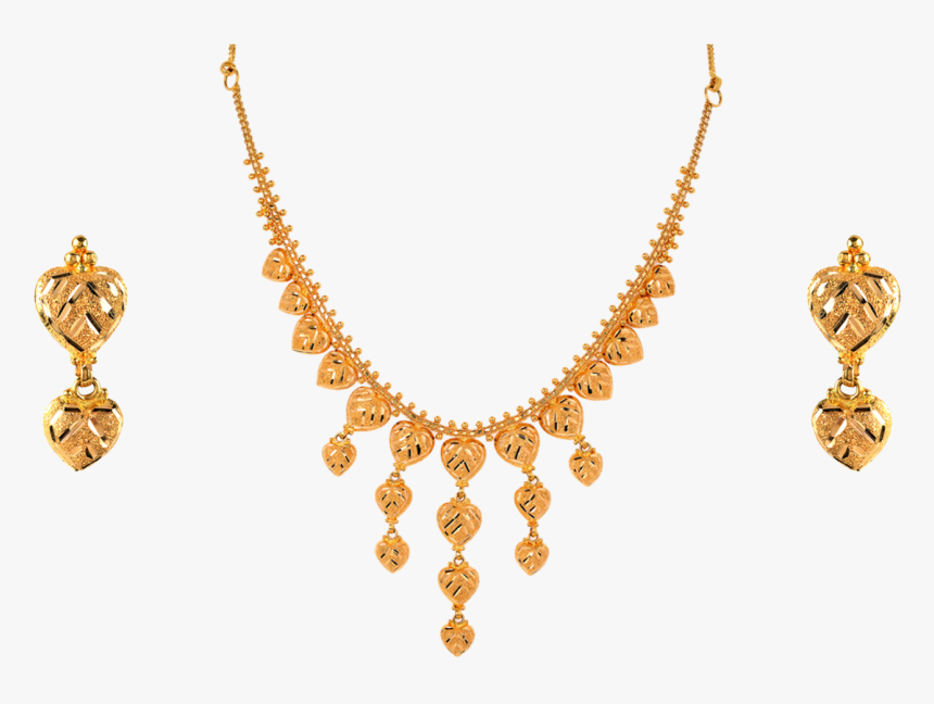 Breathtaking And Classy 22kt Yellow Gold Bridal Set - Necklace, HD Png Download, Free Download