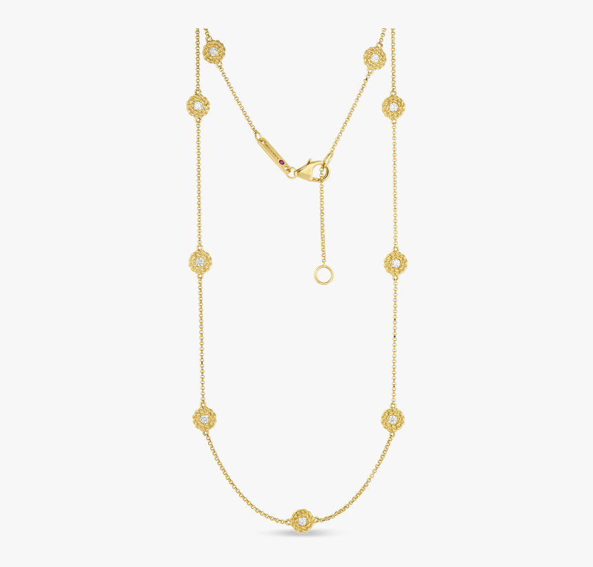 Roberto Coin Necklace With Diamond Stations - Png And Sons Gold Chain, Transparent Png, Free Download