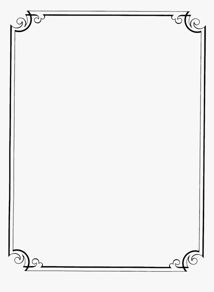 Flower Border Line Design Clipart Best Clipgoo Top - Simple Border Design, HD Png Download, Free Download