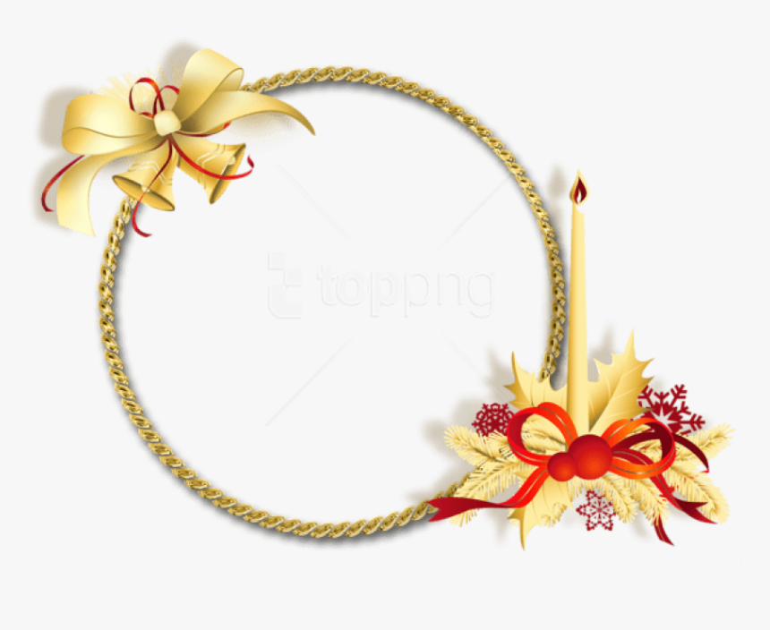 Golden Round Png - Beautiful Thoughts On Christmas, Transparent Png, Free Download