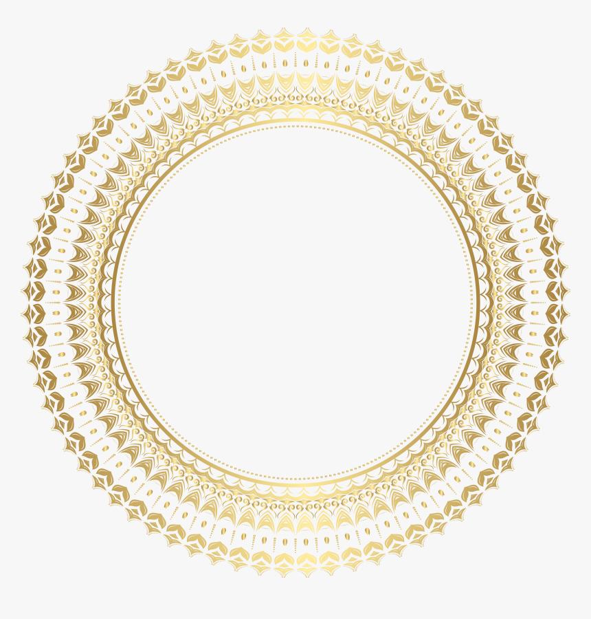Round Gold Frame Png, Transparent Png, Free Download