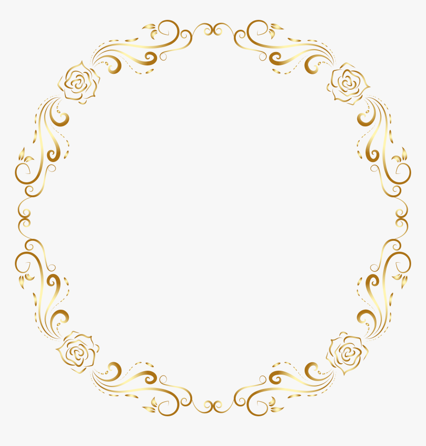 Round Deco Border Frame Transparent Png Clip Art, Png Download, Free Download