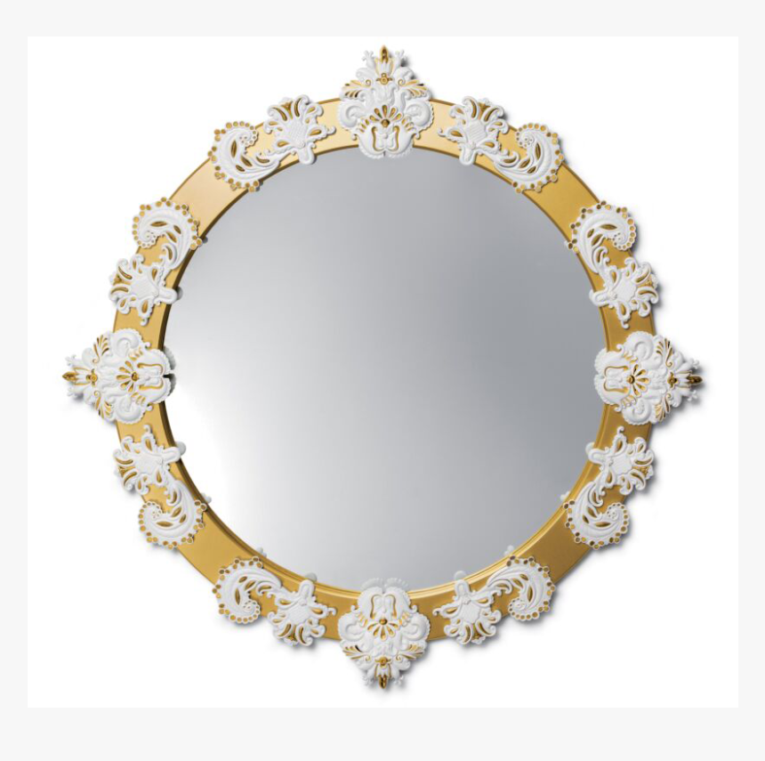 Mirror White - Golden Gray Mirror, HD Png Download, Free Download