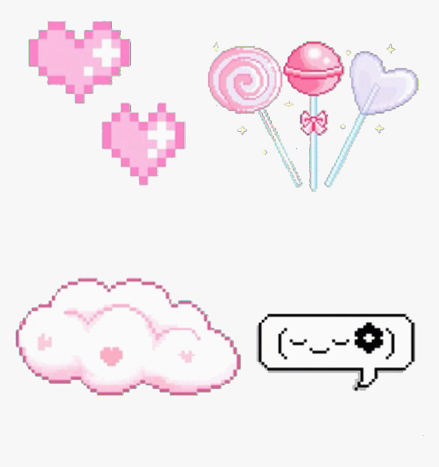 Pixel And Overlay Image - Pixel Cute Kawaii Gifs, HD Png Download, Free Download