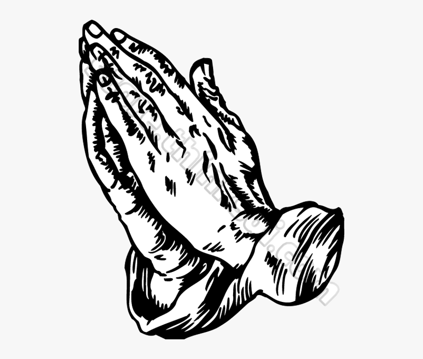 Praying Hands Prayer Clipart Free Images Transparent - Praying Hands Images Black And White, HD Png Download, Free Download