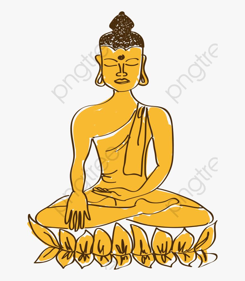 Cartoon Painted Lord Buddha - พระพุทธเจ้า การ์ตูน, HD Png Download, Free Download