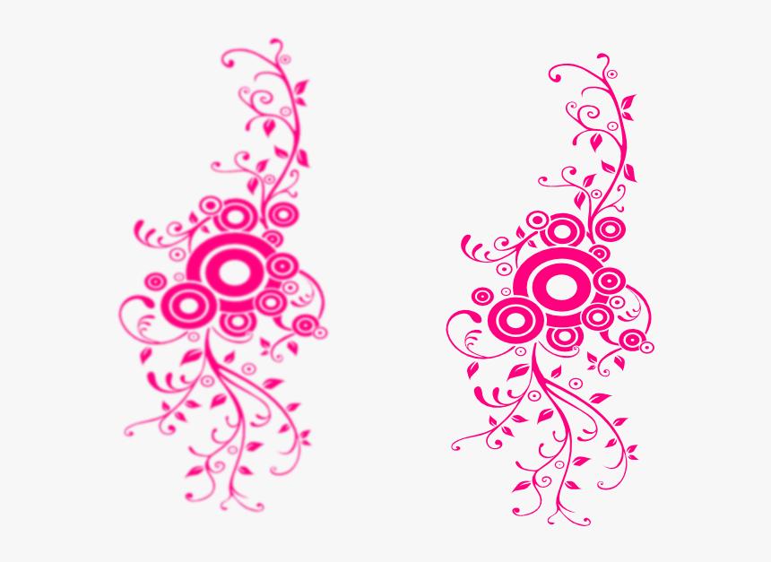 Princess Swirl Clip Art - Burnt Orange Flowers Border, HD Png Download, Free Download