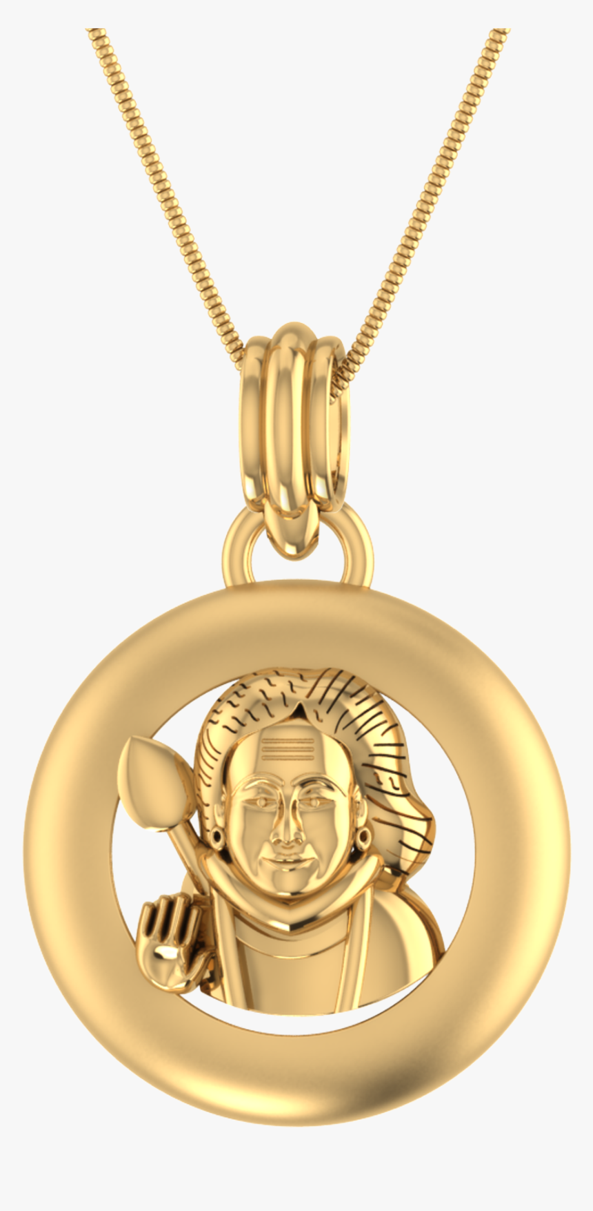 Virgin Mary With Baby Jesus Gold Pendant, HD Png Download, Free Download