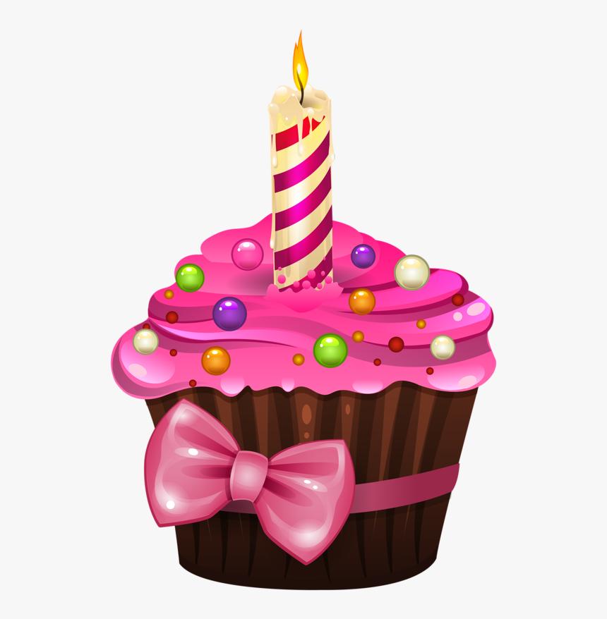 Birthday Cup Cake Png - Bolo De Aniversário Desenho, Transparent Png, Free Download
