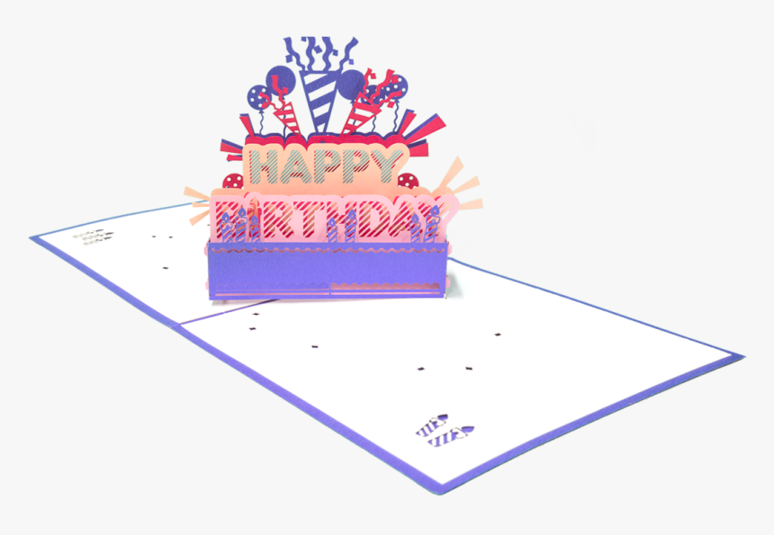 Happy Birthday Pop Up Card - Birthday Cake, HD Png Download, Free Download