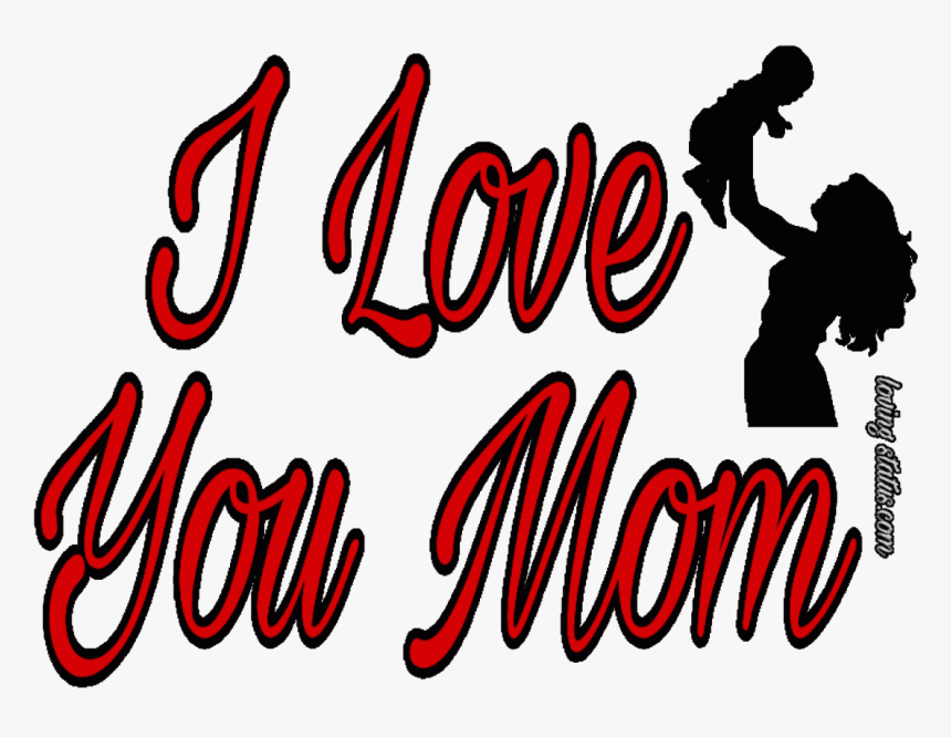 Mom Love Quotes-love You Mom - Mommy And Baby, HD Png Download, Free Download