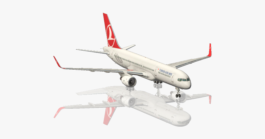 Turkish Airlines Plane Transparent Png, Png Download, Free Download