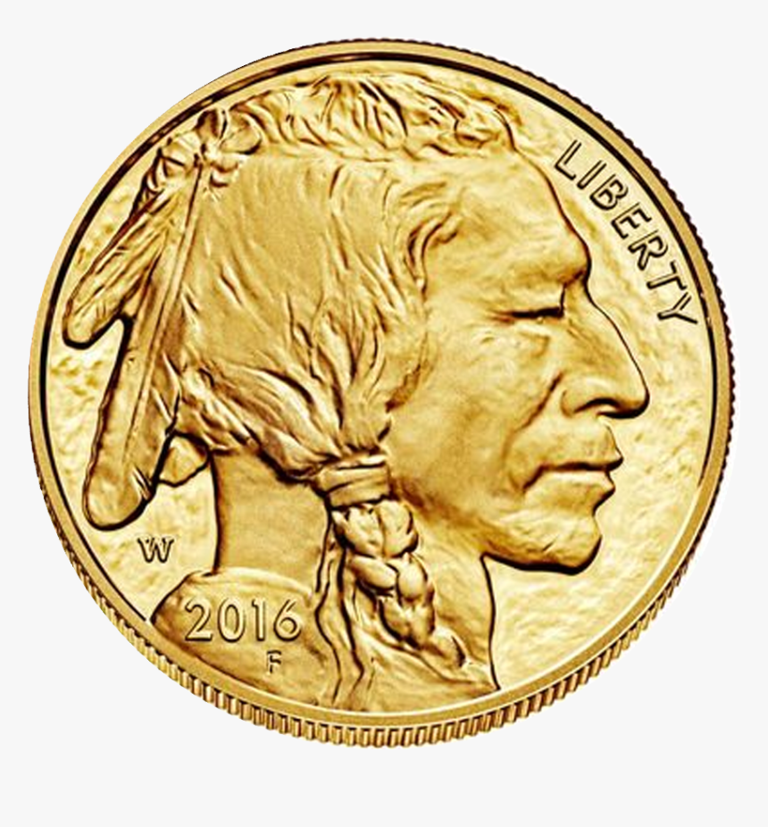 Indian Silver Coin Png - Gold American Buffalo, Transparent Png, Free Download