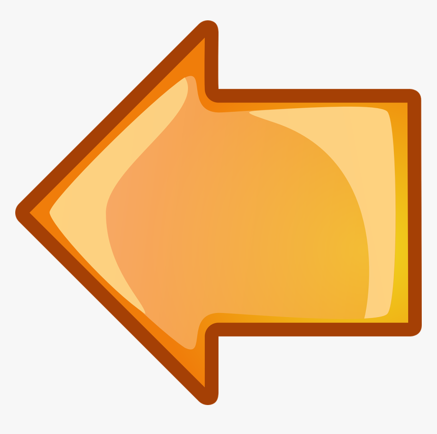 Orange Arrow Pointing Left, HD Png Download, Free Download