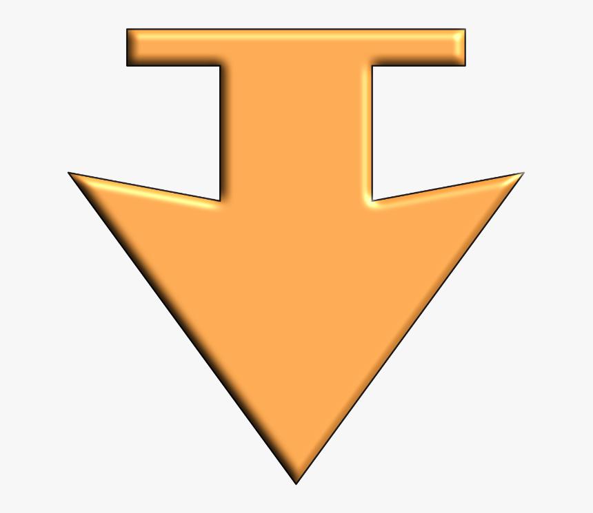 Arrow Down Orange, HD Png Download, Free Download