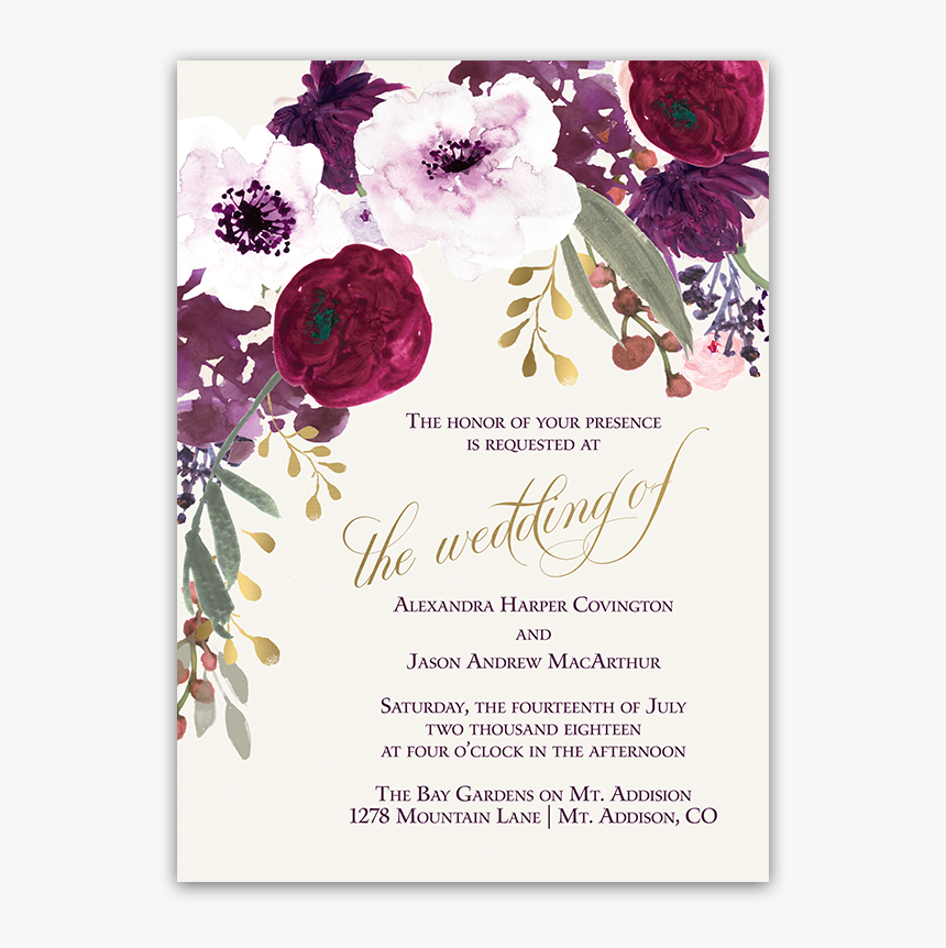 Flower Clipart Wedding Invitation Flowers For Wedding Invitations Png Transparent Png Kindpng