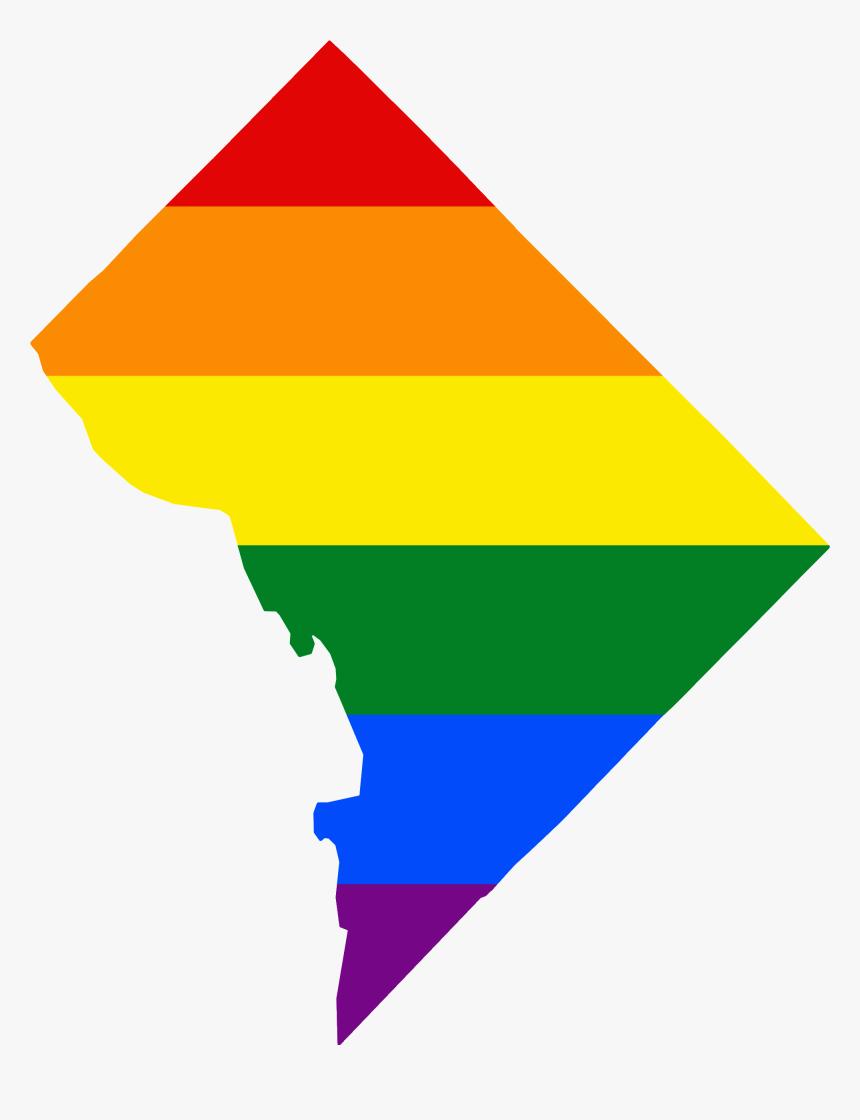 Lgbt Flag Map Of Washington Dc - Washington Dc Map Clipart Png, Transparent Png, Free Download