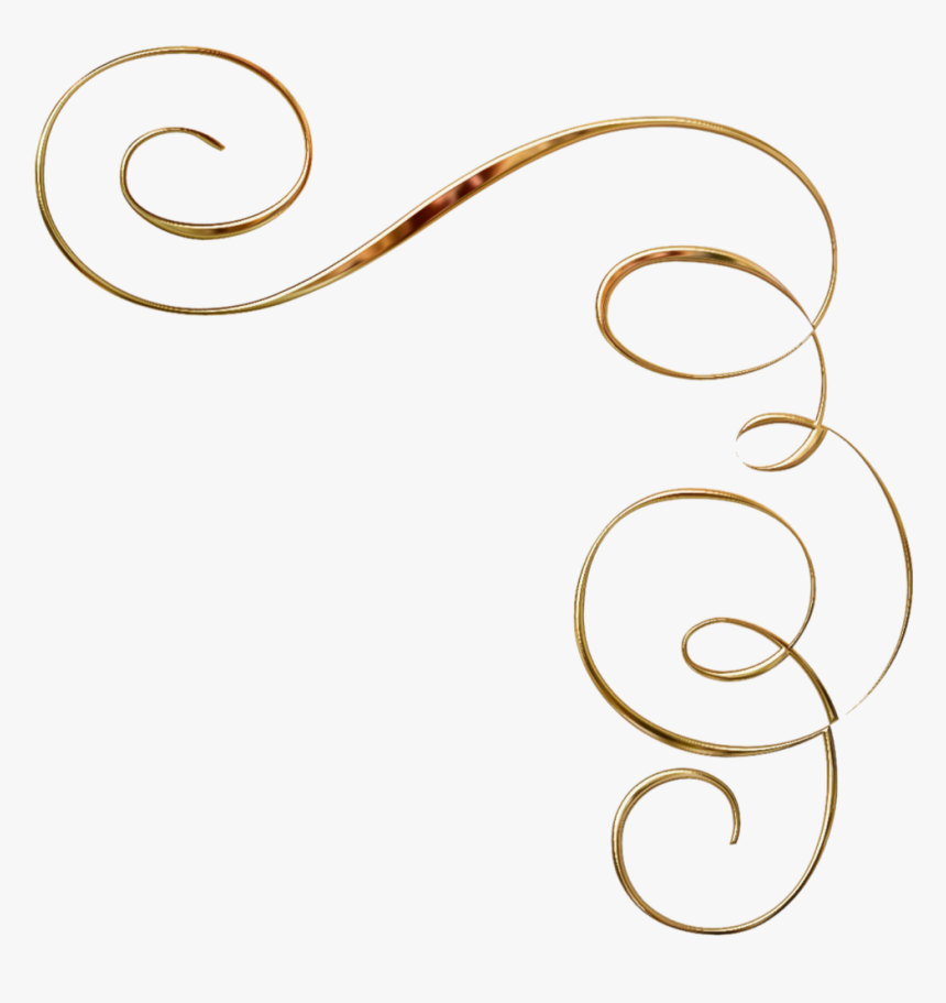 Gold Swirls Add Me A Flourish Pinterest Coins And Accent - Gold Swirl Corner Png, Transparent Png, Free Download