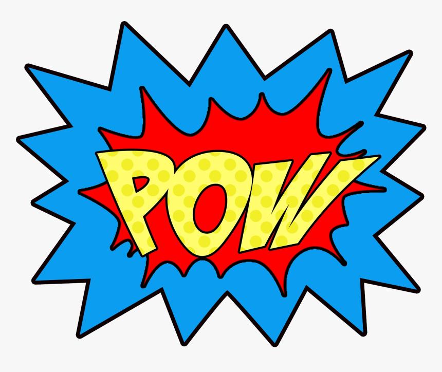 Superhero Super Hero Words Clip Art Free Clipart Images - Superhero Pow Clipart, HD Png Download, Free Download