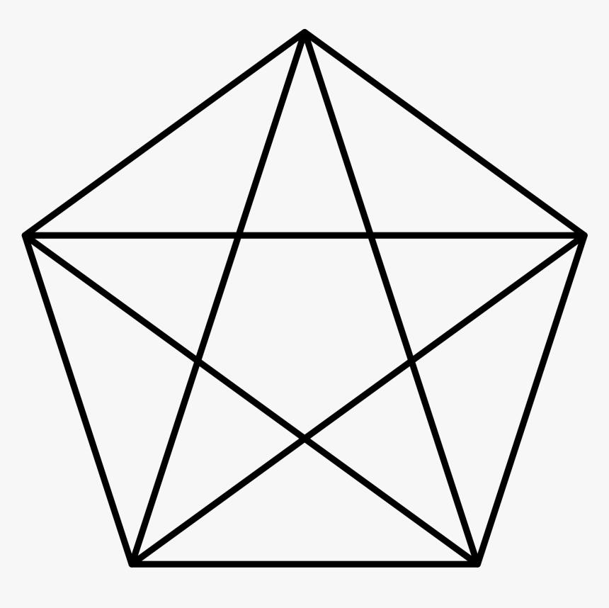 Pentagon With A Star , Png Download - Pentagram In Pentagon, Transparent Png, Free Download