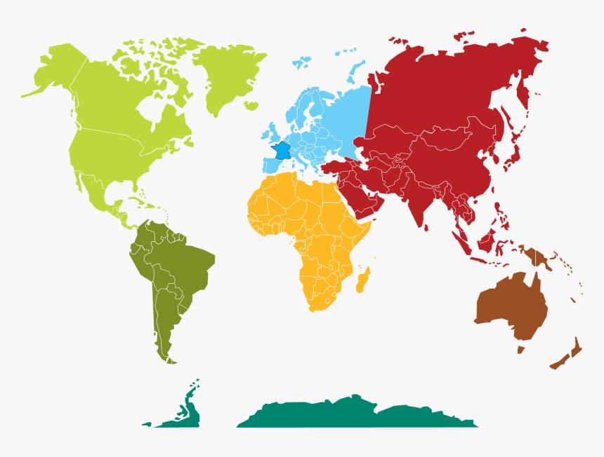 Carte Du Monde Continents Png Download World Map Transparent Png Kindpng