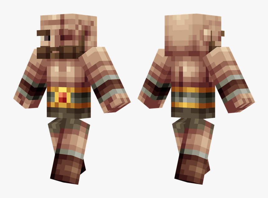 Minecraft Barbarian Skin, HD Png Download, Free Download
