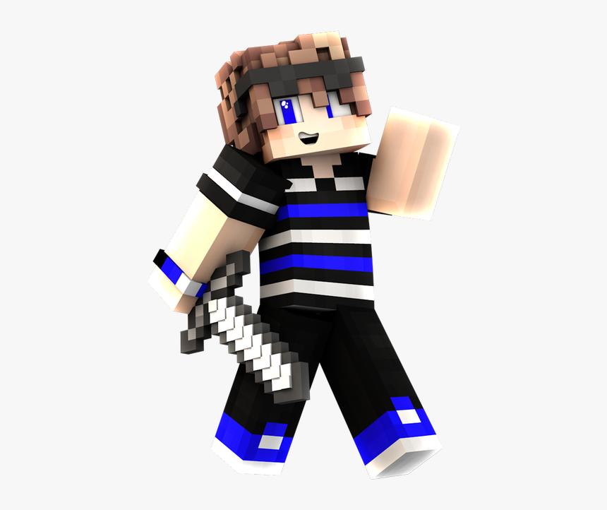 Blue Render Minecraft Skins, HD Png Download, Free Download