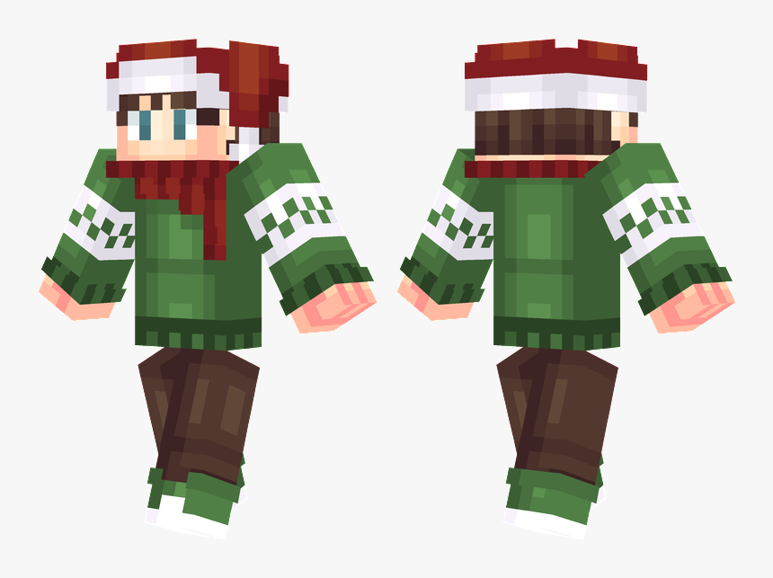 Minecraft Skins The White Pumpkin , Png Download - Xmas Skin Minecraft, Transparent Png, Free Download