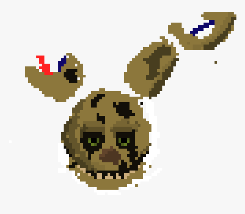 Pixel Art Maker Springtrap, HD Png Download, Free Download