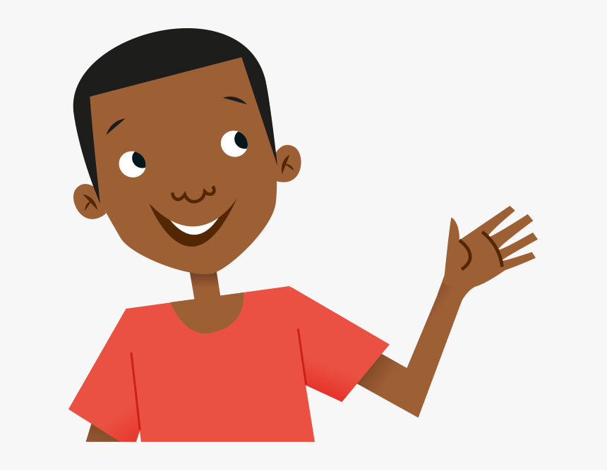 Kid Thinking Png Child Waving Clipart Transparent Png Kindpng