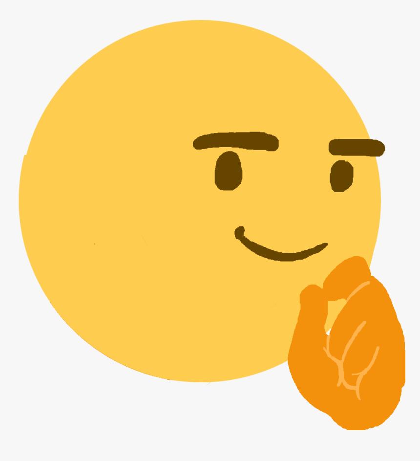 Face Emoji Clip Art - Thinking Emoji Face Meme, HD Png Download, Free Download