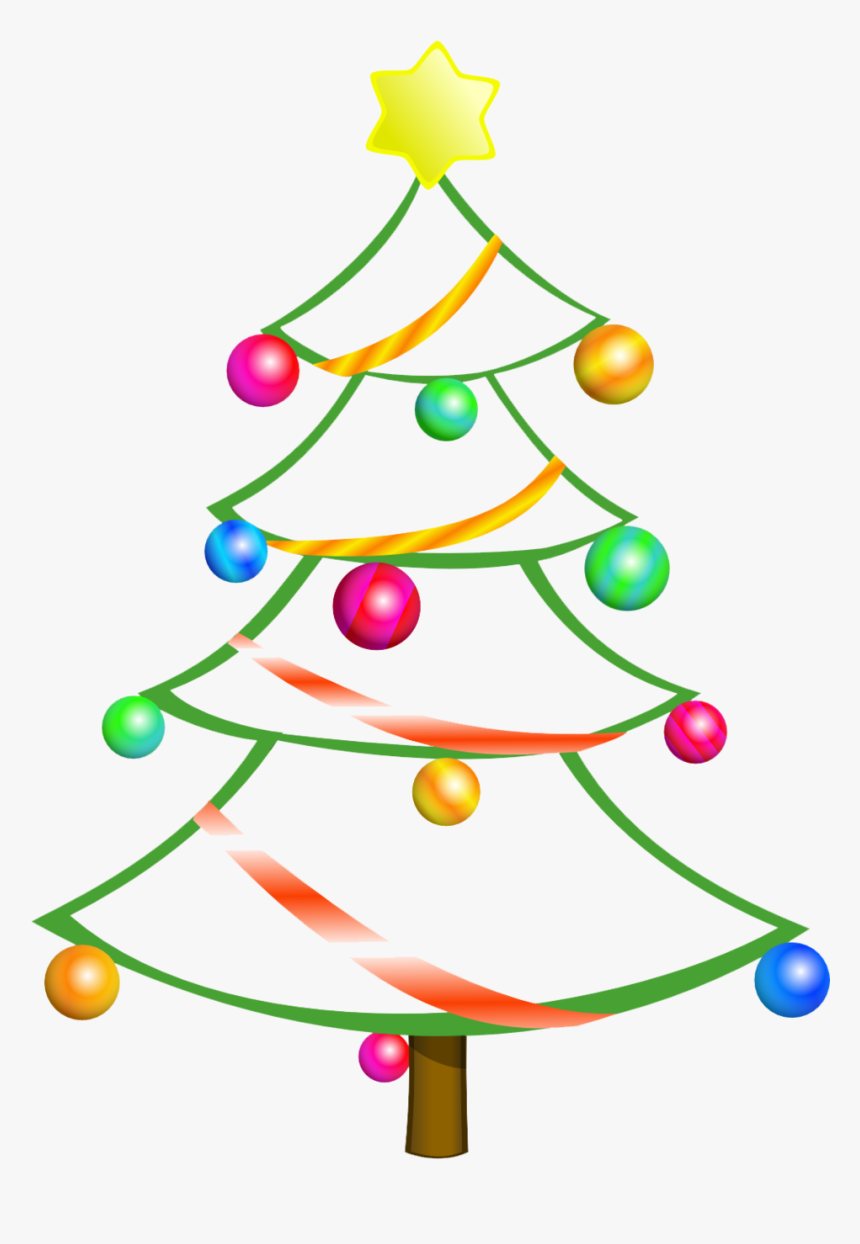 Modern Christmas Tree Clipart Free - Clipart Christmas Tree, HD Png Download, Free Download